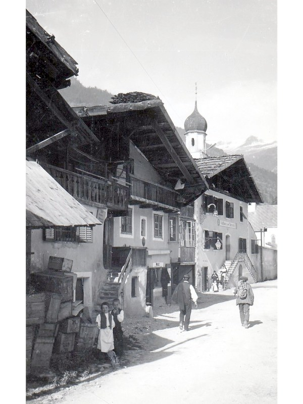St. Martin im Passeier 1910, Häuserbild