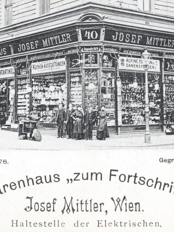Wien 1905, Warenhaus zum Fortschritt