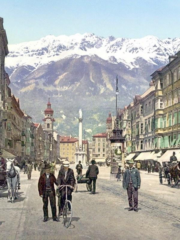 Innsbruck 1910, Straßenbild