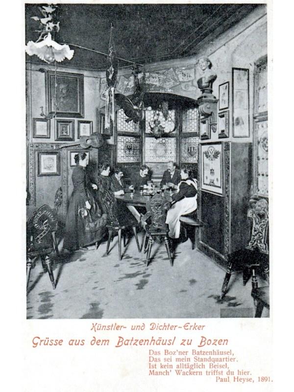 Bozen 1903, Künstler- und Dichter-Erker