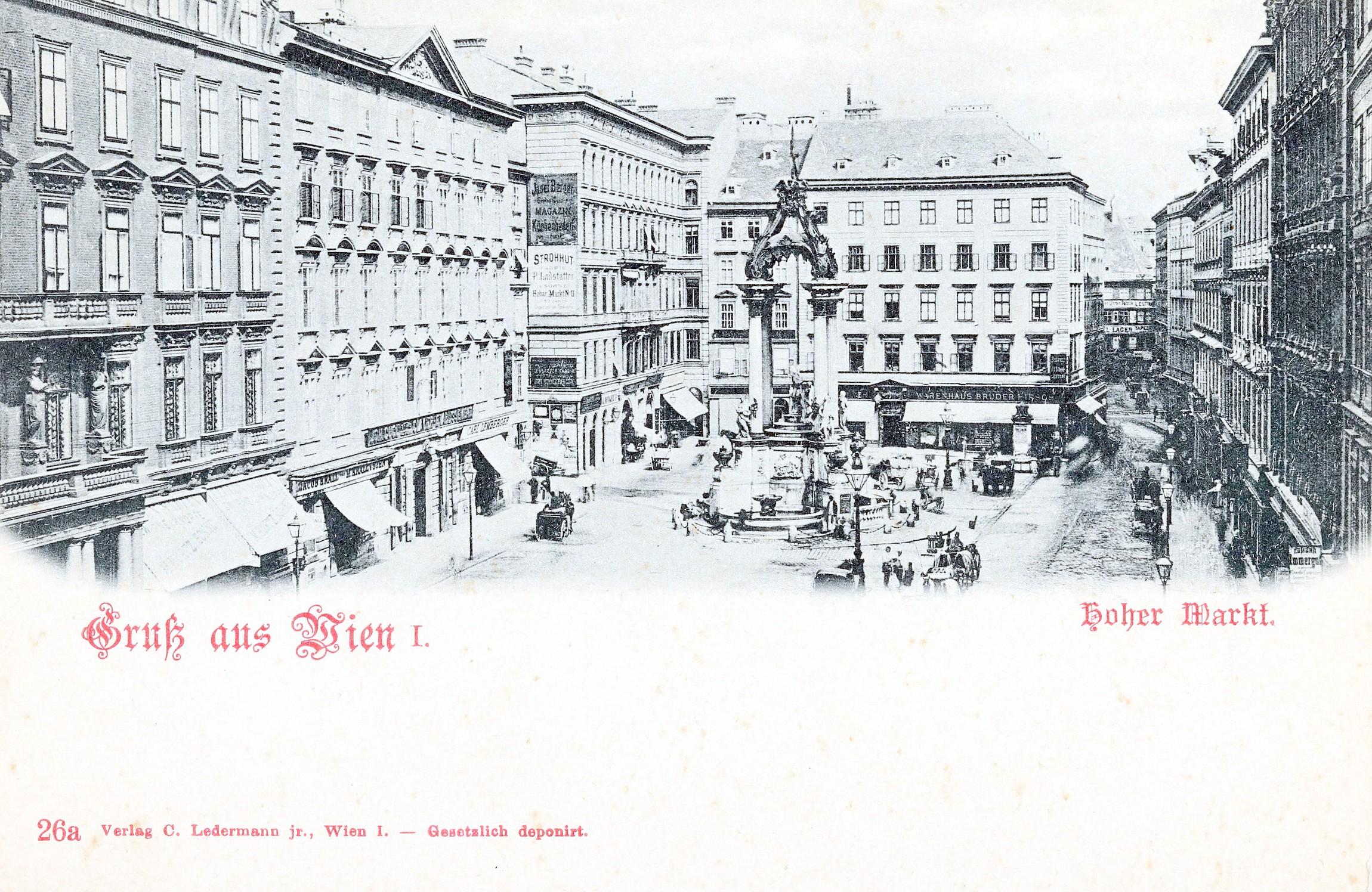 Wien 1898, Warenhaus Hirsch