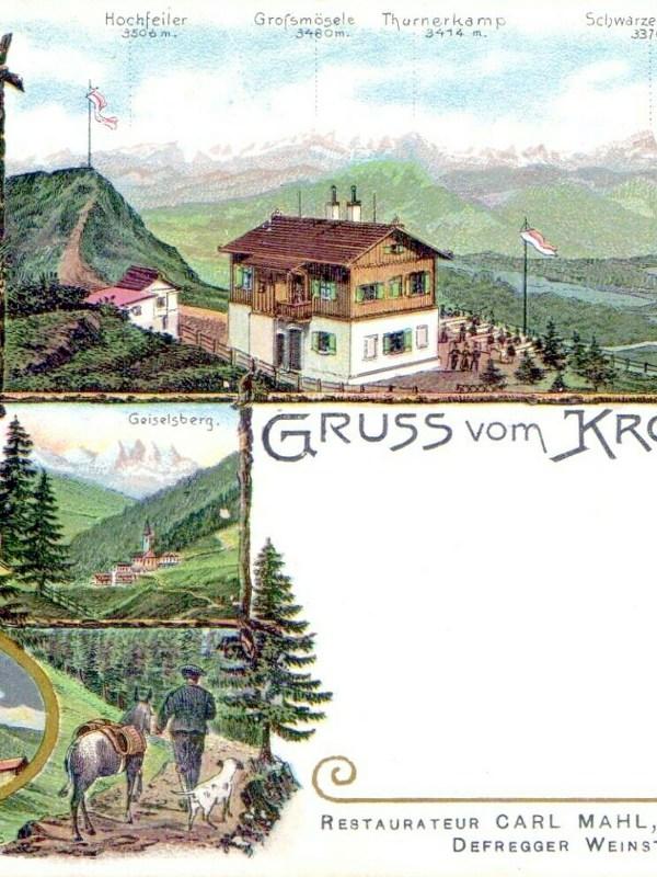 Kronplatz 1897, Fernblick
