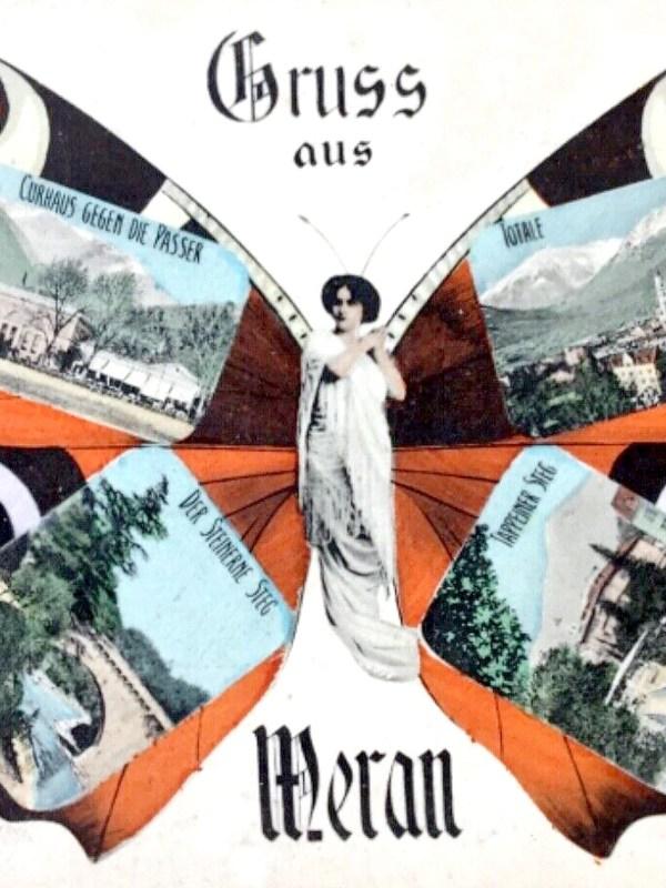 Meran 1900, Schmetterlingskarte