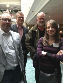 Från vänster: Fredric Morenius, Marcus Rise, Torsten Jönsson och jag.