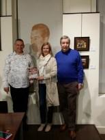 Con Bárbara Pons y su marido.