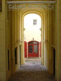Praga, Nerudova ulice, entrada galeria Montanelli