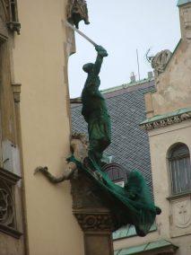 Praga, detalle de figura, Pařížská ulice