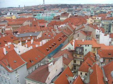 Praga, tejados de Staré Mesto desde la torre del Ayuntamiento