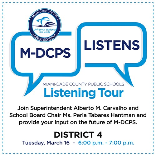 Mdcps 2022 Calendar.M Dcps Listening Tour For Our Strategic Blueprint Jose Marti Mast 6 12 Academy