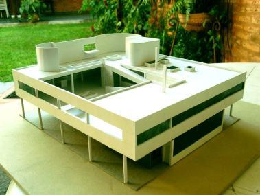 Maqueta Ville Saboye, Le Corbusier.