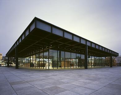 Neue National Galerie de Berlín, Mies Van der Rohe.