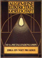 Peter Behrens – Cartel bombilla incandescente AEG (1910)