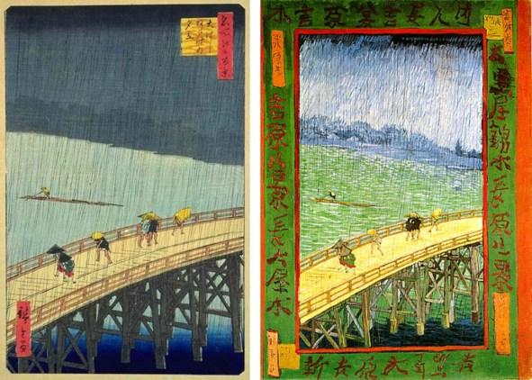 Cuadros de Hiroshige y Van Gogh respectivamente.