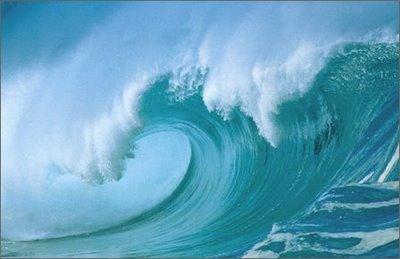 Las olas del mar.