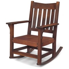 Mecedora de Gustav Stickley.
