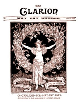 "Portada revista ""The Clarion"", 1895. Walter Crane."