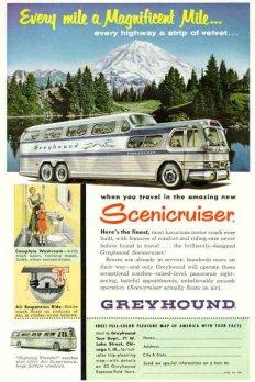 Un autobús exclusivo para The Greyhound Corporation, la compañía de autobuses que une las diferentes ciudades de Estados Unidos. En 1951