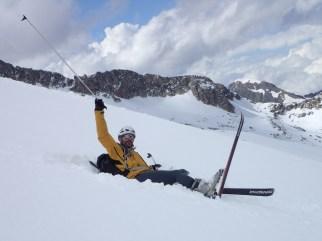 Manu on the snow