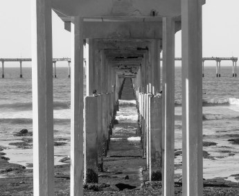 Underneath Ocean Beach Pier