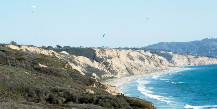 Hangliders over Torrey Pines