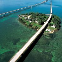 Key West is Driving 100 M.P.H. Over the Seven Mile Bridge