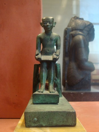 Another statue of Imhotep in the Louvre