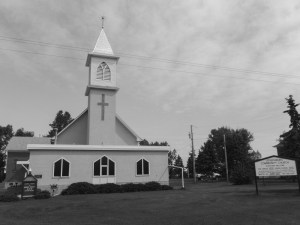Black and White Josephburg Community Church