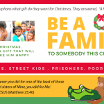 Be A Family To Somebody This Christmas