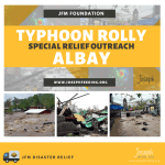 Relief Operation: Typhoon Rolly – Bicol Albay