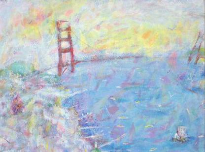 A12: The Golden Gate, San Francisco   £275   Acrylic   49 x 40 cms