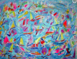 A35: Lots of Yachts | £295 | Acrylic | 68 x 51 cms