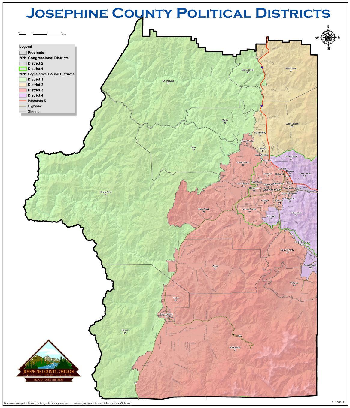 Josephine County Precinct Map