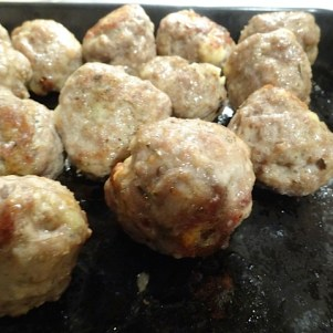 Veal Balls in fying pan 9
