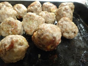 Veal Balls in fying pan 9