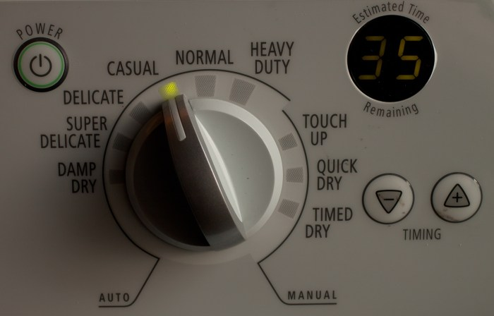 A Dryer Relationship Settings