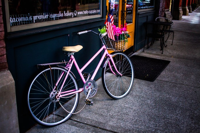 Gears Of Time Pink Bike With Basket