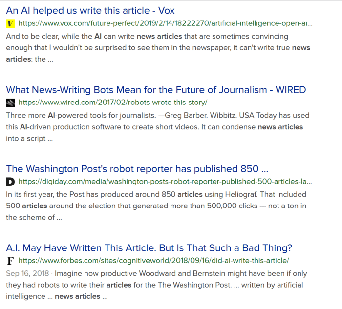AI Writing Articles