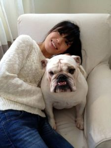 Akemi spending time with the extended family.  In this case - Lola.
