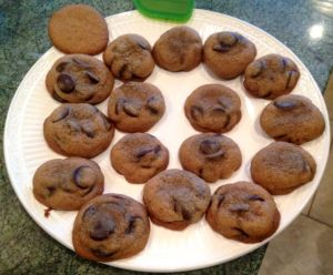 She also baked up a batch of chocolate chip cookies.