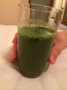 "The green ""health juice"" Akemi made me drink."