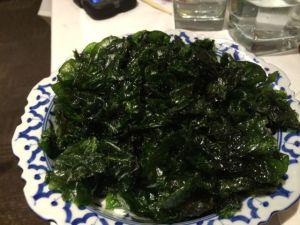 Crispy spinach