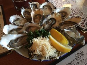 On the half shell at the Oyster