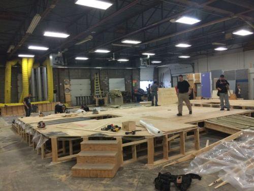 October 29, 2014: Dark Matter Pre-production!  Set Construction Begins!