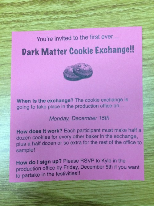 December 2, 2014:  Cookies, Snow Monkeys, And Exercise Accessories!