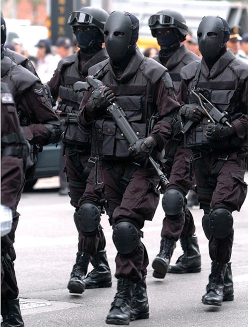 April 15, 2015: Let The Creepy Black-masked Paramilitary Soldier Be Your Muse!  Elliot's Birthday Bash!