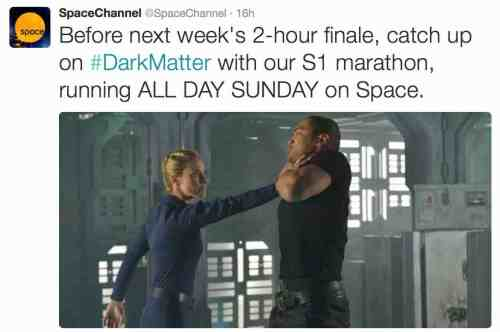 August 22, 2015: Dark Matter Episode 11!  What'd You Think?