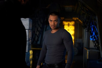 """DARK MATTER -- """"Episode Seven"""" Episode 107 -- Pictured: Alex Mallari Jr. as Four -- (Photo by: Russ Martin/Prodigy Pictures/Syfy)"""