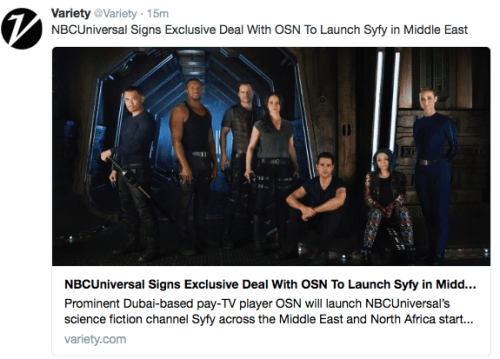 June 9, 2016: Dark Matter Expands Its Viewership!