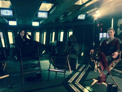 "August 27, 2017: Dark Matter Episode 303, ""nowhere To Go"" – Behind The Scenes!  And Superfan Chris Makes His Own Blink Drive!"