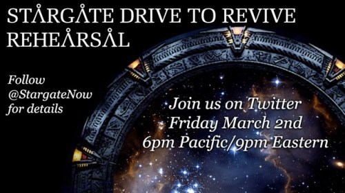 March 2, 2018: Tonight's The Night!  Join Us For The Stargate Tweet-storm Rehearsal!